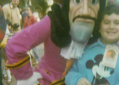 mascot with a boy