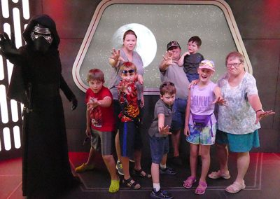 Find the Force family posing